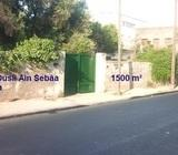 Terrain 1500 m2 à Casablanca Aïn Sebaâ
