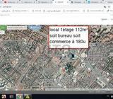 Local de 112 m2 1étage tout usage commerc Hay Riad