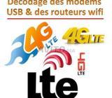 Décodage/déblocage WifiMobile & modems usb -LTE/4G