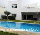 Location une villa meublée avec piscine à Hay Riad Rabat